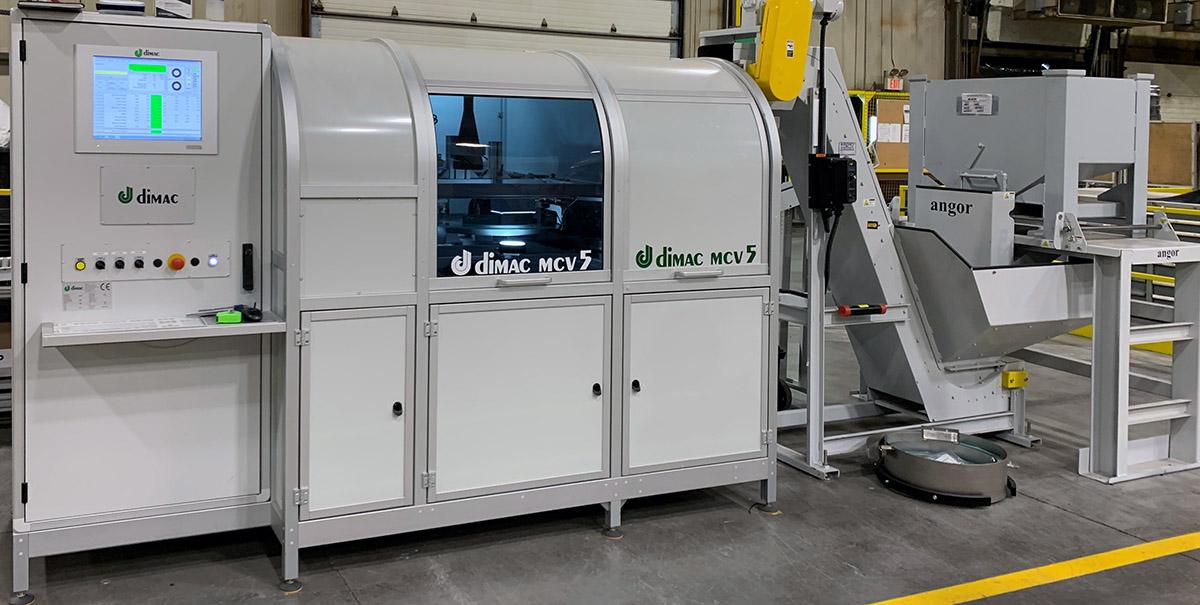 Dimac MCV5 macchina a disco di vetro rotante per il controllo e selezione
